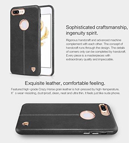 Hülle für iPhone 7 plus , Schutzhülle Für iPhone 7 Plus Business Style Crazy Pferd Leder Oberfläche PC Schutzhülle Rückseite mit weichem Microfaser Futter ,hülle für iPhone 7 plus , case for iphone 7  Brown