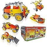 Montez Flexible Junior Builder Build & Play Block Construction Set 148 Pieces DIY Toy For Kids