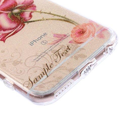 IPhone 6 Plus/6S, Vioela, motivo: fata dei fiori, design a farfalla, colore: trasparente-Con custodia rigida posteriore trasparente, Ultra sottile, in Silicone, per iPhone 6 Plus/6S, 11,94 cm (4,7) c - Flower #2