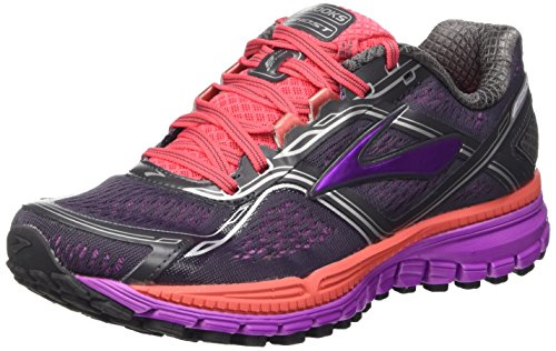 Brooks Ghost 8 W, Zapatillas de Running para Mujer, Anthracite/Purple