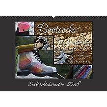 Sockenkalender Bootsocks 2018 (Wandkalender 2018 DIN A2 quer): Strickkalender mit 12 Anleitungen für Bootsocks (Monatskalender, 14 Seiten ) (CALVENDO Hobbys)
