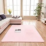 Creative Light-Teppich Teppiche Wohnzimmer Couchtisch Matten Schlafzimmer Nachttisch Teppich Massiv Rechteckig Voll Shop Teppiche (Größe: 1.4m * 2.0m) (Farbe : Pink)
