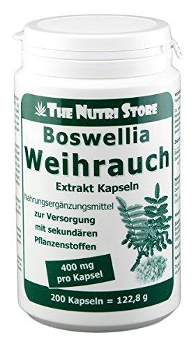 Boswellia-extrakt (Boswellia Weihrauch 400 mg Extrakt vegetarische Kapseln 200 Stk. - 6-7 Monatsvorrat)