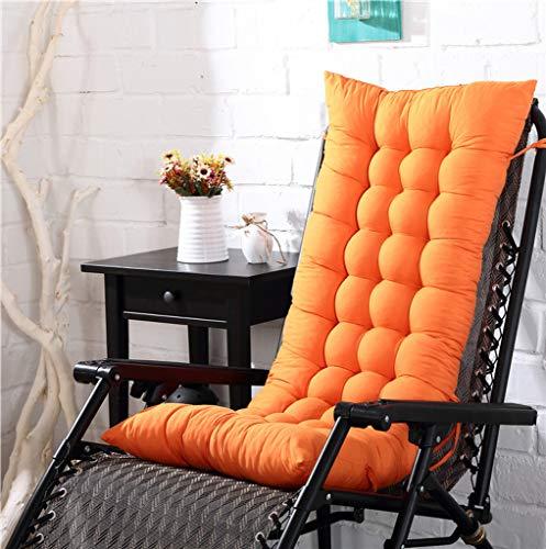 YYRZGW Lounge Chair Kissen Indoor Outdoor Chaise Lounge Kissen Sofakissen mit Kappe Perfekt für Garten Patio Matratze für-Orange A-48x125x8Cm
