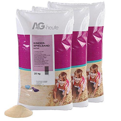 75kg Spielsand Quarzsand für Sandkasten Dekosand TÜV NORD geprüft TOP Qualität (Sandkasten Sand)