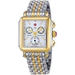 Michele Michele firma Deco Madre de Perla 18kt Amarillo Chapado en oro Reloj MWW06P0001