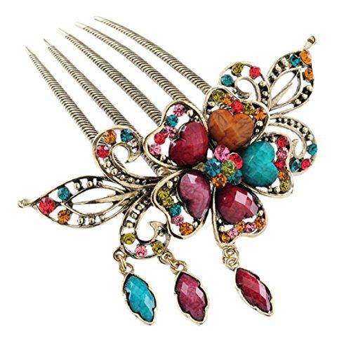 ouneed-r-1pc-random-color-fashion-women-hair-accessory-retro-flower-comb-hair-fork