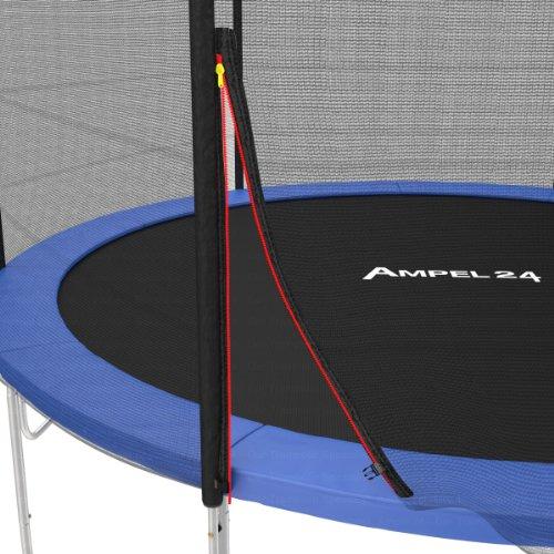 Ampel 24 Ersatznetz für Gartentrampolin Ø 490 cm | Trampolin Netz komplett mit 12 Stangen & Polster | Netz außenliegend - 3