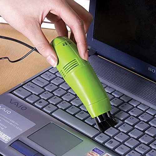 Diswa New USB Brush Flexible Rubber Keyboards Cleaner Mini USB Computer Vacuum Cleaner for for PC Laptop Computer