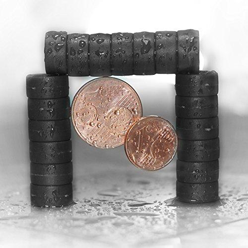 20 schwarze Magnete - EXTRA STARK Neodym gummierte Schutzschicht (ø12x6mm) | einzigartig | starke neodym Magnete für Magnettafel, Whiteboard, Glasmagnettafel und als Kühlschrankmagnete
