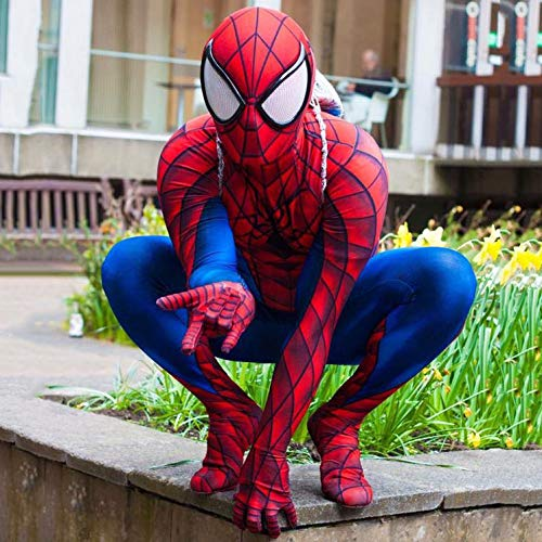 SEJNGF Superheld Spiderman Cosplay Siamesische Strumpfhosen Halloween Charakter Anime Spiel Kostüm (Kopfbedeckungen Können Nicht Getrennt ()