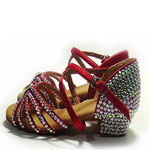 main enfants diamant chaussures latine chaussures de danse latine avec des chaussures de diamant nouvelles filles pour enfants Antidérapant C