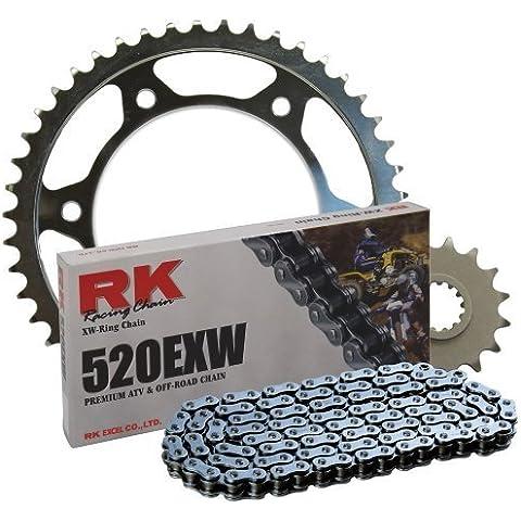 RK Racing Chain 4066-010S e posteriore, pignone 520EXW OE-Kit di lampadine di ricambio da RK Racing Chain