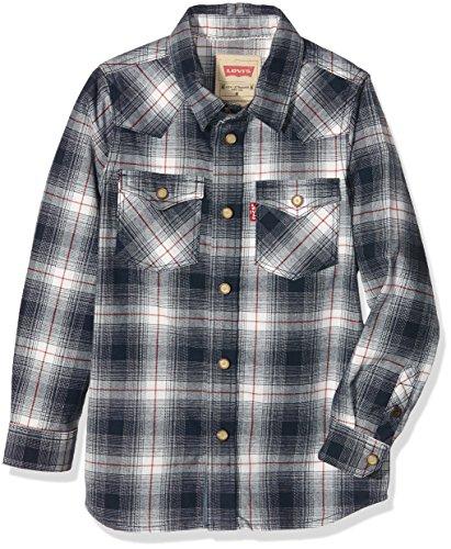 Levi's LS Shirt Bouly, Camicia Bambino, Blu (Bright Blue), 8 Anni