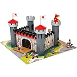 Alex Brands 55 Piece Set Durable and Heavy Weight Wooden Dragon Castle (4+ Years)
