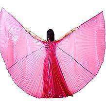 Dance Fairy Alas de Isis Danza del Vientre Trajes de la Etapa / Props con palos / Barras,Rosa