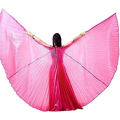 Dance Fairy Isis alas grandes de danza del vientre Rosa rojo sorpresa trajes de la etapa / prop