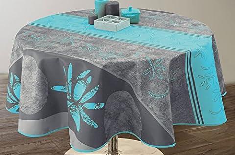 Nappe anti-taches Lotus bleu - taille : Ovale 150x240 cm