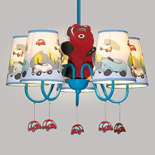 Jungen Cartoon Auto Schlafzimmer Kronleuchter Lampe Mediterraner Kid 's Room Anhänger Leuchten Kinder Pendelleuchte - 2