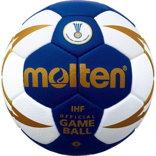 molten Handball, Blau/Weiß/Gold, 3, H3X5001-BW-HBL