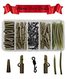 JSHANMEI ® 120/Box Karpfenangeln Tackle Box Bundle Safety Lead Clips Quick Swivel Anti-Tangle Sleeve Kit