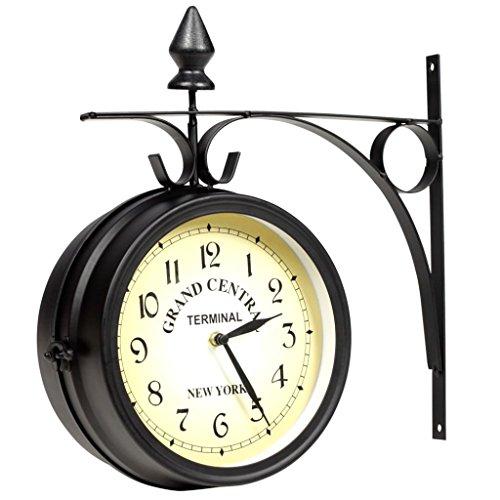 Vidaxl orologio da parete su due lati per interni o esterni