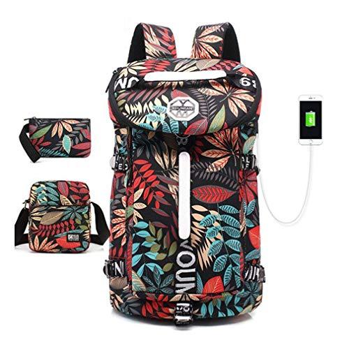 OWO Laptop Backpack 15.6 Pollici Fashion School Zaino del Computer Idrorepellente in Nylon Daypack Casuale con Porta USB di Ricarica for Viaggi/Commerciali/College/Donne