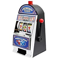 La confezione include: 1 x Slot Machine Salvadanaio da 22 cm Misure del prodotto: 13 x 11 x 22 cm. Suoni da Jackpot Casino con Luci Lampeggianti È una slot machine in stile casinò totalmente funzionante con salvadanaio. Fa una gran bella figu...