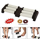 Super INDIA Store Acupressure n Massager SPIKED Double Foot Roller for Stress Relief, Boost Immunity With SuJok Rings