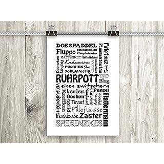 artissimo, Poster mit Spruch, Din A4, PE0057-DR, Ruhrpott, Bild mit Spruch, Spruchbild, Wandbild, Plakat, Kunstdruck, Zitat, Sprüche, Wanddekoration