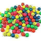 S/o® 50unidades flummi Smiley 27mm flummis Spring Ball hüpfball obsequios Tombola Cumpleaños infantiles