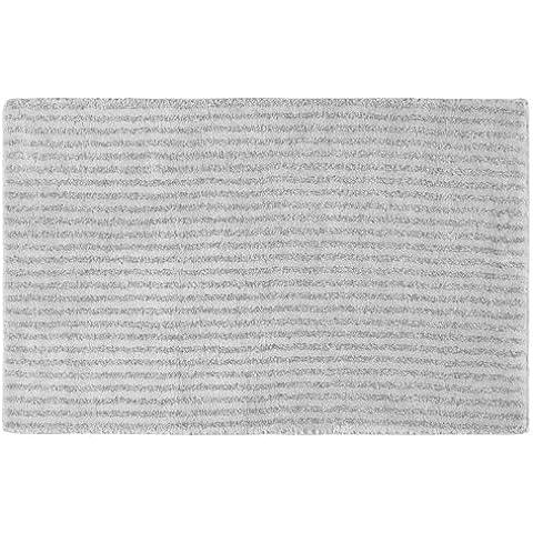 Garland Rug SHE-2440-07 Sheridan 24 pulgadas x 40 pulgadas de la felpa lavable Nylon alfombras Platinum Gray