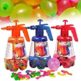 Gonfiatore Palloncini Acqua Gavettoni Pompa Manuale Ballon Pamp con 100 palloncini Colorati