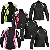 Women Motorbike Motorcycle Armored Textile Cordura Waterproof Jacket Coat For Ladies | Size