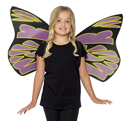 Smiffys 44289 - Glow in The Dark Flutter Flügel