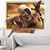 3D Wandaufkleber Wandtattoo Selbstklebend Halloween Dekoration, Zombie Wohnzimmer Horror, Persönlichkeit, Hintergrund, Thriller, Halloween