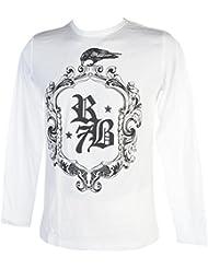 Rivaldi black - Makinu white ml tee - Tee shirt manches longues
