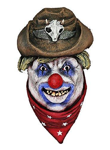 Rodeo Clown Maske zum Cowboy Horrorclown Kostüm (Rodeo Kostüm Clown)