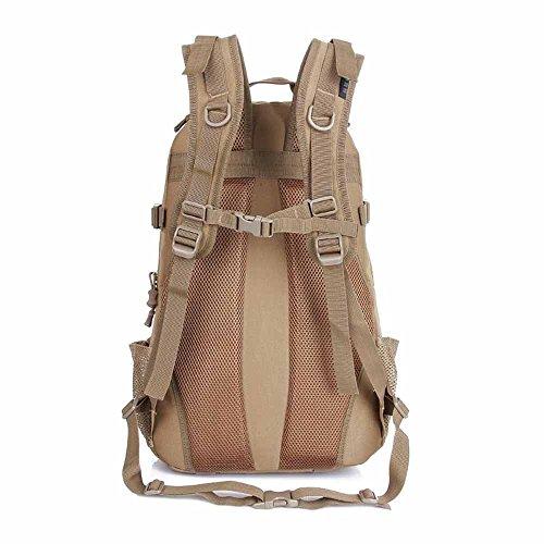 AllureFeng Outdoor-Bergsteigen Tasche Camo großen Kapazität verdoppeln Rucksack camping und Rucksack-Armee-Fan-Paket Black