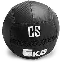 Capital Sports Bravor • Medizinball • Wall Ball • Fitness Ball • Krafttraining • Ausdauertraining • Functional Training • extrem Griffige Oberfläche • schwarz • verfügbare Gewichte: 3 kg - 12 kg