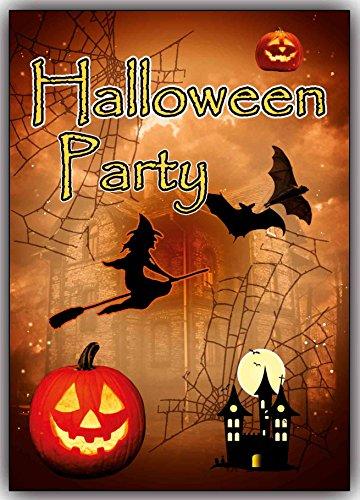 Halloween-Party Einladungskarten Set 12 Karten Einladung Kinder Jungen -