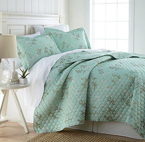 Southshore Fine Linens - Briteyarn - Cotton Quilt-Kollektion King/California King Myosotis Green -