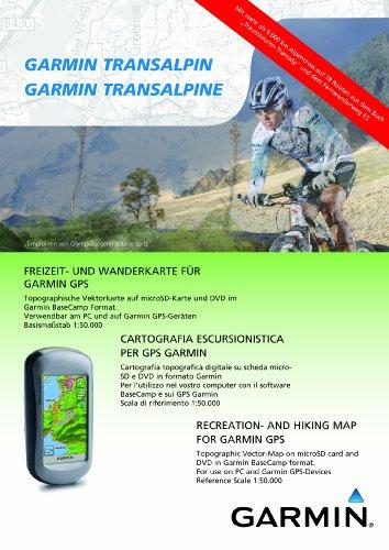 Garmin Topo TransAlpin - grenzüberschreitende Freizeit- und Wanderkarte für GPS Geräte mit Transalp Touren auf DVD und microSD