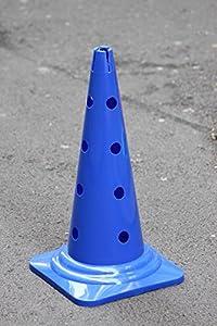 agility sport pour chiens - cône avec trous, 50 cm, bleu - 1x MZK50b