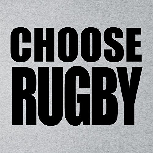 Choose Rugby All Black Logo Six Nations Men's Hooded Sweatshirt Heather Grey