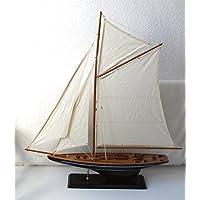 Modell-Yacht Modell eines Olympia Regatta Seglers der 30iger Jahre Renn-Segler