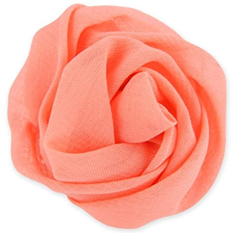 Floral Rose Spindle Ring - Adjustable Band - Peach Punch