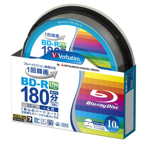 verbatim-mitsubishi-25gb-4x-speed-bd-r-blu-ray-lth-type-recordable-disk-10-spindle-pack-ink-jet-prin