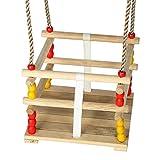 Gartenpirat Gitterschaukel Kleinkind Schaukelsitz Babyschaukel aus Holz
