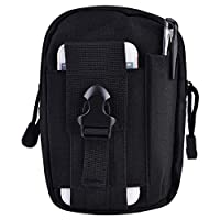 Filfeel Outdoor Waterproof Mobile Phone Bag that Works with Camouflage Travel, 6.3 x 4.7 x 2.0 Inches, Black